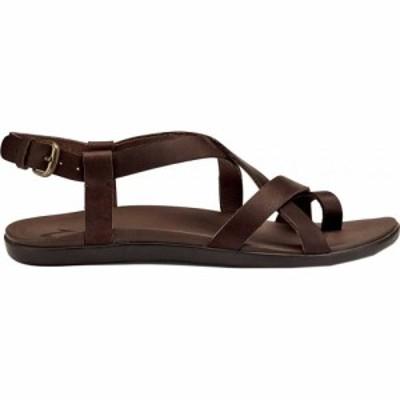 オルカイ OluKai レディース サンダル・ミュール シューズ・靴 Upena Quarter Strap Sandal Kona Coffee Leather