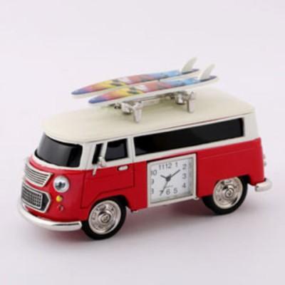 【SALE】ミニチュアクロック Miniature Clock Collection ミニバン レッド・サーフボード C3159KP238-RD 【返品種別B】