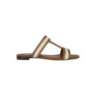 Tods レディースシューズ Tods Double T Sliders Brown/White