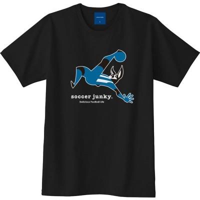 【1枚までメール便可】[soccer junky]サッカージャンキー半袖Tシャツ オーバーヘッダー(SJ17226)(2)ブラック