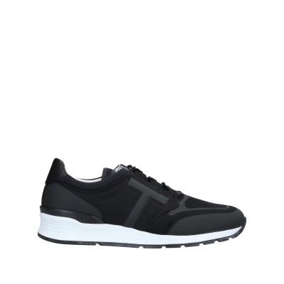 トッズ TOD'S スニーカー&テニスシューズ(ローカット) ブラック 9.5 革 / 紡績繊維 スニーカー&テニスシューズ(ローカット)