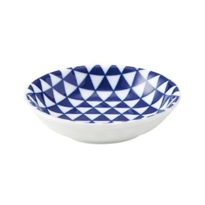 小鉢 和食器 / 山格子 青 8cm浅ボウル 寸法: D-8 H-2cm