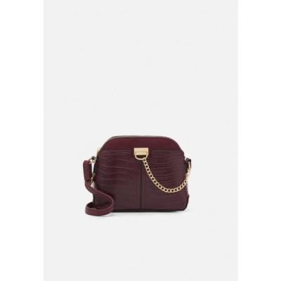 ニュールック レディース アクセサリー KIERAN LIZARD MINI KETTLE - Across body bag - dark burgundy