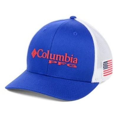 コロンビア メンズ 帽子 アクセサリー Columbia PFG Mesh Flex Hat Royal/White