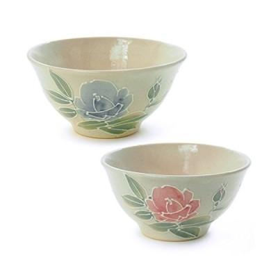 九谷焼 夫婦茶碗 『金沢のバラ』