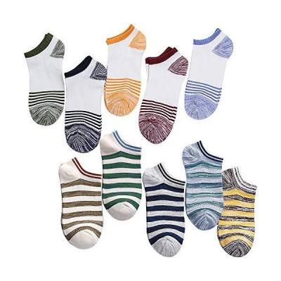 靴下 メンズ カジュアル メンズ 靴下 アウトドア スニーカーソックス ショートソックス くつ下 24~27cm 10足組 DE04-05