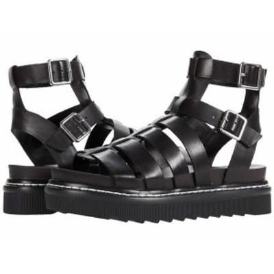 スティーブ マデン レディース サンダル シューズ Benefit Sandal Black Leather