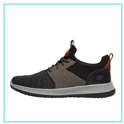 [スケッチャーズ] メンズ 男性用 シューズ 靴 スニーカー 運動靴 Classic Fit Delson Camben - Black/Grey 9 D - Medium [並行輸