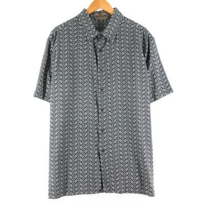 A[X]IST 総柄 半袖 シルクシャツ メンズXXL /eaa163557