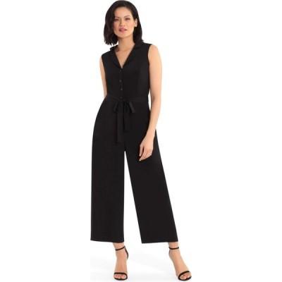 ロンドンタイムス London Times レディース オールインワン ジャンプスーツ ワンピース・ドレス Notch Collar Jumpsuit Black