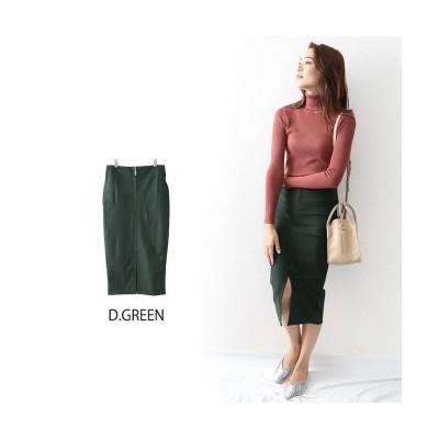 (OWNCODE/オウンコード)バックZIPロングタイトスカート/レディース ダークグリーン