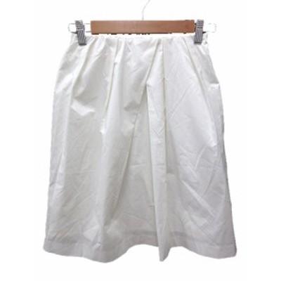 【中古】イエナ スローブ IENA SLOBE スカート フレア ひざ丈 36 白 ホワイト /CT レディース