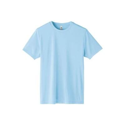 [グリマー]3.5oz インターロック ドライ Tシャツ 00350-AIT AIT  ライトブルー 日本 L (日本サイズL相当)