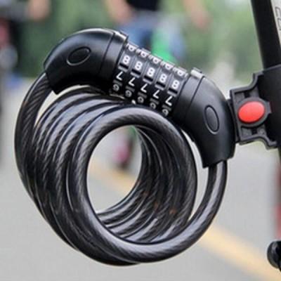 送料無料 ユニバーサル盗難防止バイク自転車ロックステンレス鋼ケーブルコイル城オートバイサイクル MTB バイクセキュリティコードロック