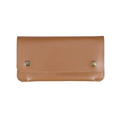 Women Long Style Wallet Retro Simple Thin Section Buckle Clutch Bag Mobile