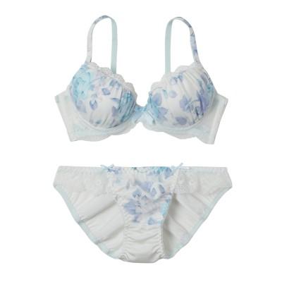 ロマンティックフラワープリント ブラジャー・ショーツセット(C70/M) (ブラジャー&ショーツセット)Bras & Panties