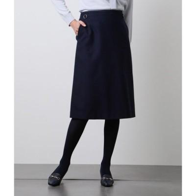 NEWYORKER / ウールカシミヤシルクブッチャー デザインスカート