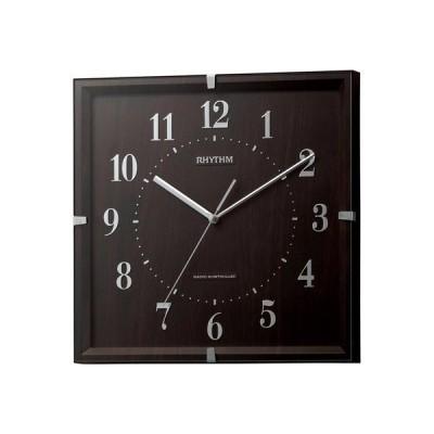 電波掛時計 ライブリーエミリ (濃茶) 8MY502SR06 RHYTHM リズム時計工業