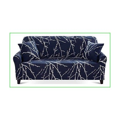 Chozan Pattern Sofa Slipcovers Stretch Printed Sofa Cover with 2 Pillowcases for 4 Seat Cushion Couch Furniture Pet Protector Anti-Slip Styl