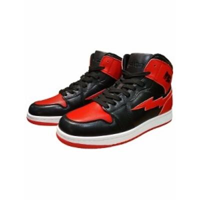 REVENGE × STORM MJ-HI リベンジ × ストーム スニーカー メンズ レディース ハイカット 黒 赤  BLACK RED リベンジストーム 靴 シュー