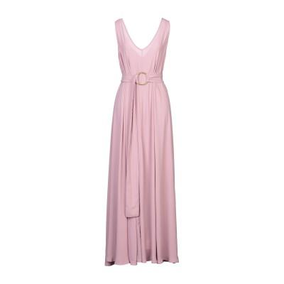 MAESTA ロングワンピース&ドレス パステルピンク 44 PES - ポリエーテルサルフォン 100% ロングワンピース&ドレス