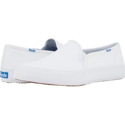 ケッズ Keds レディース スニーカー シューズ・靴 Double Decker Canvas White