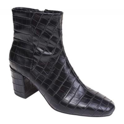 スプレンディッド Splendid レディース ブーツ ショートブーツ シューズ・靴 Heather Heeled Ankle Boot Black Croco