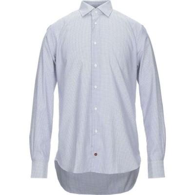 キャレル CARREL メンズ シャツ トップス Checked Shirt Blue
