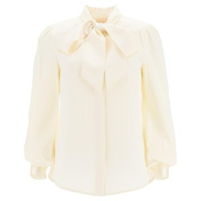 TORY BURCH/トリー バーチ ブラウス NEW IVORY Tory burch satin blouse with bow レディース 秋冬2020 76174 ik