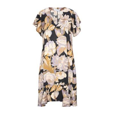 カオス KAOS ミニワンピース&ドレス ブラック 40 レーヨン 100% ミニワンピース&ドレス