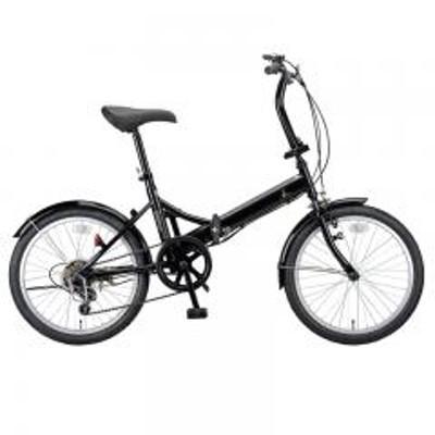 キャプテンスタッグ【送料無料】キャプテンスタッグ 折りたたみ自転車 ライヤー FDB206 折り畳み自転車 20インチ 6段変速 軽量  20インチ  ブラック