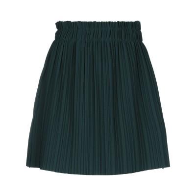 SOALLURE ミニスカート ダークグリーン 42 ポリエステル 97% / ポリウレタン 3% ミニスカート