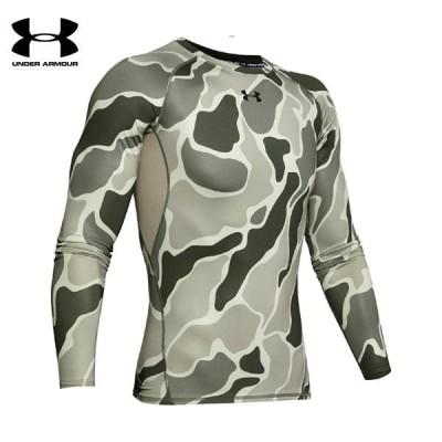 セール アンダーアーマー UA ヒートギアアーマー ロングスリーブ ノベルティ トレーニング メンズ コンプレッションシャツ 1358585-388