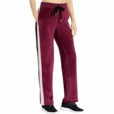 ビビ スポーツ Bebe Sport レディース スウェット・ジャージ ボトムス・パンツ Velour Color-Block Track Pants Cabernet