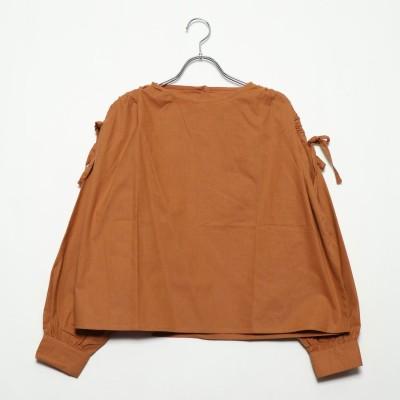 スタイルブロック STYLEBLOCK 綿ライトキャンバスドロストブラウス (オレンジ)