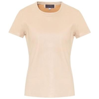 ストールス Stouls レディース Tシャツ トップス S.05 leather T-shirt Coco Light