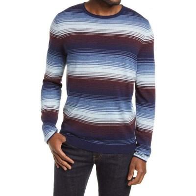 ノードストローム NORDSTROM メンズ ニット・セーター トップス Stripe Crew Sweater Navy Ombre Stripe