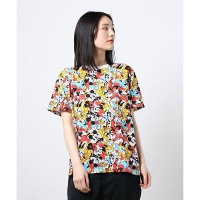 tシャツ Tシャツ 【 Disney 】 総柄プリントTシャツ(ぎっしり)