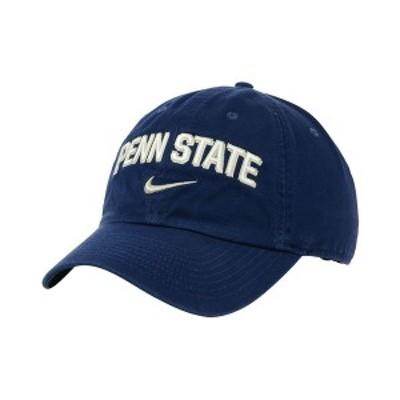 ナイキ メンズ 帽子 アクセサリー Penn State Nittany Lions H86 Wordmark Swoosh Cap Navy
