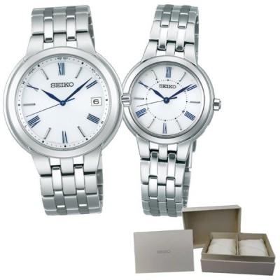 (専用ペア箱入りセット)セイコー SEIKO 腕時計 SBTM281・SSDY031 セイコーセレクション ペアウォッチ 電波ソーラー ステンレス アナログ(国内正規品)