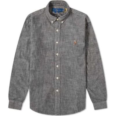 ラルフ ローレン Polo Ralph Lauren メンズ シャツ シャンブレーシャツ トップス button down chambray shirt Light Grey
