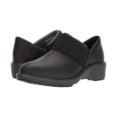 Timberland PRO ティンバーランド レディース 女性用 シューズ 靴 クロッグ ミュール Riveter Alloy Safety Toe SD+ - Black Swank Full Grain Leather