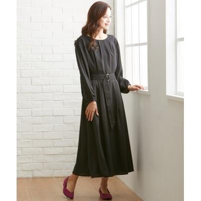 【大きいサイズ】 タック使いロングワンピース ワンピース, plus size dress