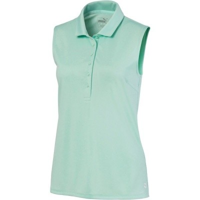 プーマ シャツ トップス レディース PUMA Women's Rotation Sleeveless Golf Polo MistGreen