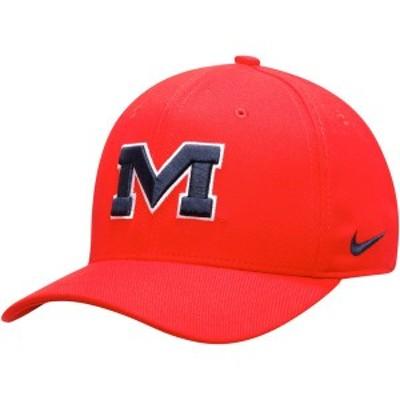 ナイキ メンズ 帽子 アクセサリー Ole Miss Rebels Nike Team Classic Logo 99 Swoosh Performance Flex Hat Red