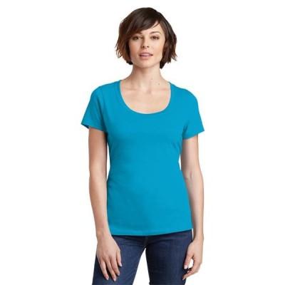 レディース 衣類 トップス District Made Women's Perfect Weight Scoop Tee Tシャツ