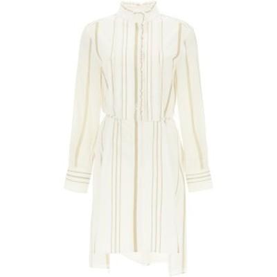 CHLOE/クロエ Mixed colours Chloe midi dress in striped cotton and georgette レディース 春夏2021 CHC21SRO08360 ik