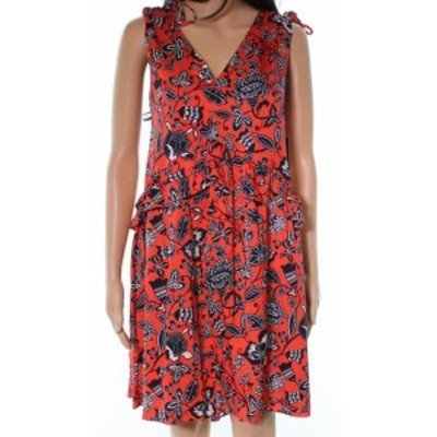 Nordstrom ノードストローム ファッション ドレス Nordstrom Signature NEW Red Floral Womens Size 4 Silk A-Line Dress