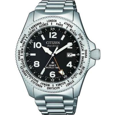 シチズン 腕時計 Citizen Promaster プロマスター Stainless Steel Eco-Drive エコドライブ GMT Watch BJ7100-82E