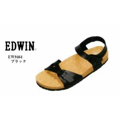 (エドウィン)EDWIN EW9464  カジュアルフットベットバックストラップサンダル コルク製のフットベッドは足裏にフィットしやすい立体カー